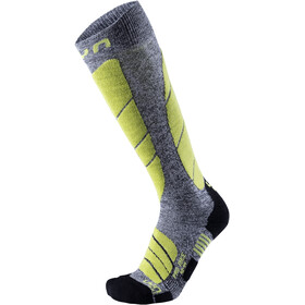 UYN Pro Race Calcetines Hombre, grey melange/green lime